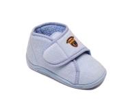Ботиночки детские на липучке голубые Dr.Luigi