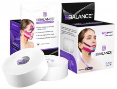 Набор кинезио тейпов для лица BB FACE TAPE™ 2,5 см × 10 м хлопок белый