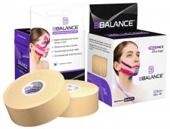 Набор кинезио тейпов для лица BB FACE TAPE™ 2,5 см × 10 м хлопок бежевый