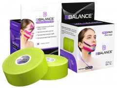 Набор кинезио тейпов для лица BB FACE TAPE™ 2,5 см × 10 м хлопок лайм