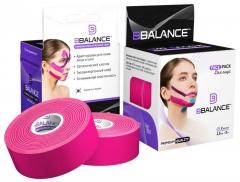 Набор кинезио тейпов для лица BB FACE TAPE™ 2,5 см × 10 м хлопок розовый