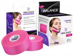 Кинезио тейп для лица BBTape 2,5см x 10 м шелк розовый (FACE PACK ICE)