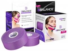 Кинезио тейп  для лица BBTape 2,5 см x 10 м шелк фиолетовый (FACE PACK ICE)