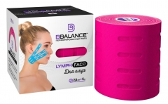 Перфорированный тейп для лица BB LYMPH FACE™ 7,5 см × 5 м розовый