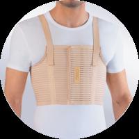 Бандаж на грудную клетку усиленный мужской AirPlus БГК-423