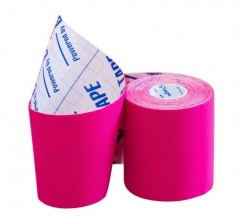 Кинезио тейп широкий BBTape™ 7,5см × 5м розовый