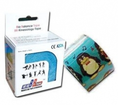Тейп кинезио BBTape 5см x 5м пингвины