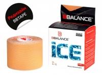 Кинезио тейп BBTape™ ICE 5см × 5м бежевый (искусственный шёлк)