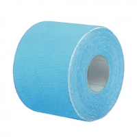 Кинезио тейп BBTape™ ICE 5см × 5м голубой (искусственный шёлк)