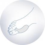 Корригирующее амортизирующие силиконовое приспособление в обувь для I пальца стопы ORTO, шт SP-I-921