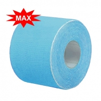 Кинезио тейп BBTape™ ICE MAX 5см × 5м голубой (искусственный шёлк)