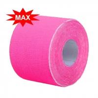 Кинезио тейп BBTape™ ICE MAX 5см × 5м розовый (искусственный шёлк)