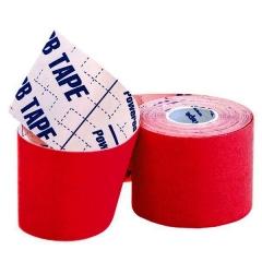 Кинезио тейп BBTape™ ICE 5см x 5м красный (искусственный шёлк)