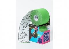 EМ-FIX sport кинезиотейп усиленная фиксация цвет салатовый 5см х 5м