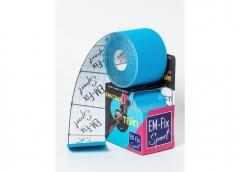 EМ-FIX sport кинезиотейп усиленная фиксация цвет голубой 5см х 5м