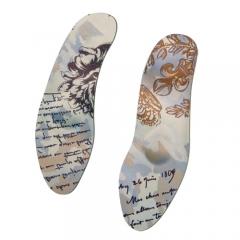 Стельки ортопедические сверхтонкие для модельной обуви с тканевым хлопкосодержащим покрытием BELLE