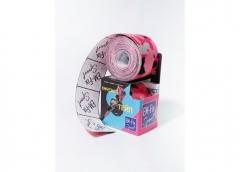 EМ-FIX sport кинезиотейп усиленная фиксация цвет розовый камуфляж 5см х 5м