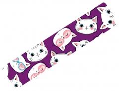 Тейп кинезио BBTape 5см x 5м котята фиолетовый