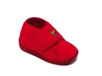 Ботиночки детские на липучке красные  DrLuigi