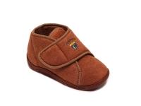 Ботиночки детские на липучке коричневые DrLuigi