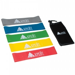 Резиновый эспандер для занятий йогой, функциональным тренингом, набор из 5 шт в сумочке  РЭ5(набор)