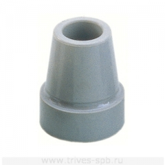 Наконечник для тростей, костылей, опор-ходунков (серый цвет) TN-001