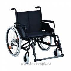 Кресло-коляска с откидными подлокотниками и съемными подножками, увеличенной ширины и грузоподъемности TN-505