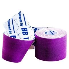 Кинезио тейп BBTape™ ICE 5см x 5м фиолетовый (искусственный шёлк)